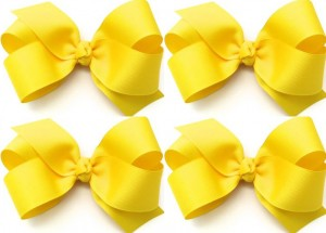 girls-hair-bows-yellow-baby-bow