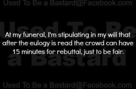 Funeral Lightheartedness Friday