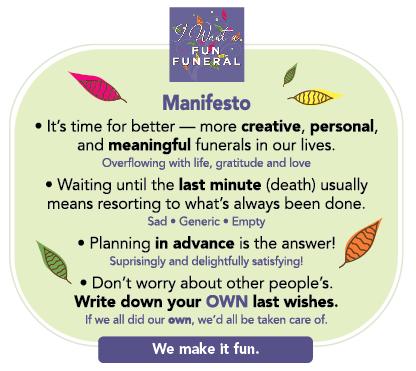 I Want a Fun Funeral Manifesto