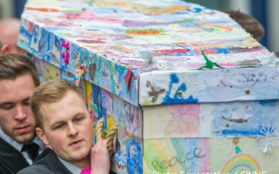 Hand-decorated casket obsession